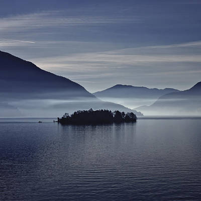 Island In Morning Mist Poster