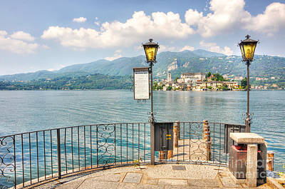 Island San Giulio On Lake Orta Poster