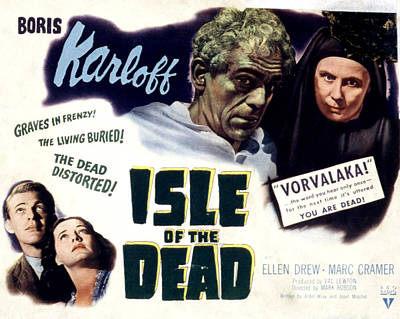 Isle Of The Dead, Boris Karloff, Marc Poster by Everett