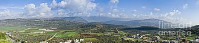 Israeli Valley Panorama Poster