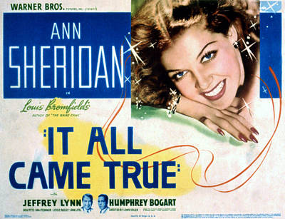 It All Came True, Ann Sheridan, 1940 Poster
