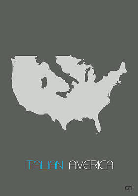 Italian America Poster Poster by Naxart Studio