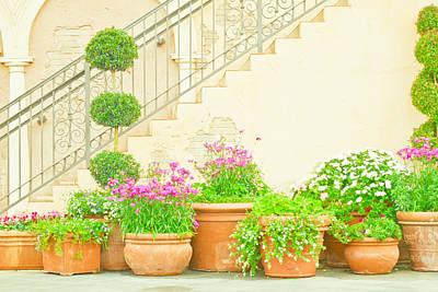 Italian Garden Poster by Tom Gowanlock