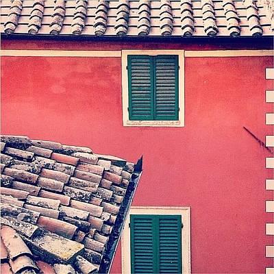 Italian Geometry #house #shutters Poster