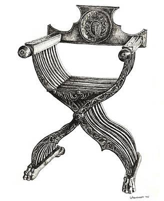 Italian Savonarola Chair Poster by Adendorff Design