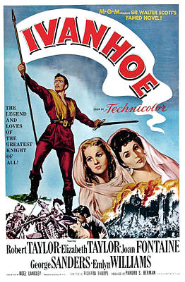 Ivanhoe, Robert Taylor, Joan Fontaine Poster by Everett