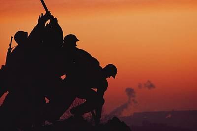 Iwo Jima Monument Partial View Poster