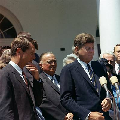 J. Edgar Hoover Joins President John Poster by Everett