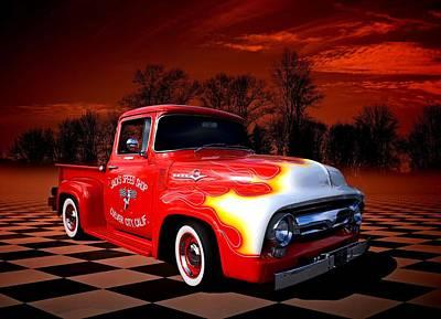 Jacks Speed Shop 1956 Ford Pickup Poster