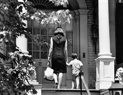 Jacqueline Kennedy And Her Son, 3 Year Poster