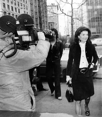 Jacqueline Kennedy Onassis Arrives Poster
