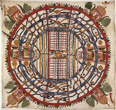 Jain Cosmological Map, 19th Century Poster by Library Of Congress, Geography And Map Division