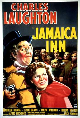 Jamaica Inn, Charles Laughton, Maureen Poster