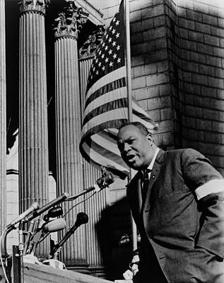James Farmer, Speaking At Foley Square Poster by Everett