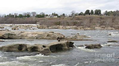 James River. Richmond Va Poster by Ausra Huntington nee Paulauskaite