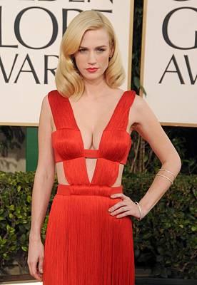 January Jones Wearing A Versace Dress Poster
