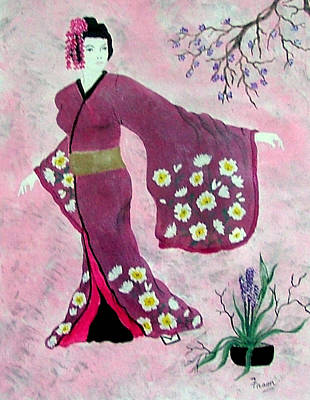 Japanese Lady Poster by Fram Cama