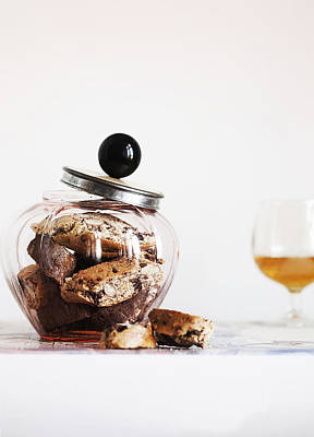 Jar Of Biscotti On Table Poster by Cultura/Line Klein