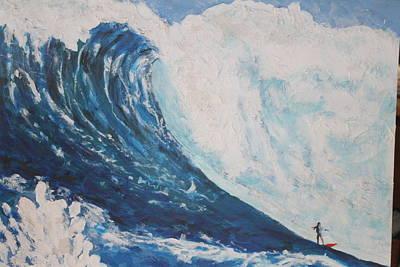 Jaws Peahi Maui Hawaii Poster by Giorgia Piekarski