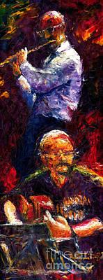Jazz Duet 1 Poster by Yuriy  Shevchuk