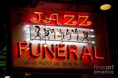 Jazz Funeral Poster by Leslie Leda
