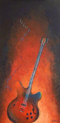 Jazz Guitar Poster by Bill Werle