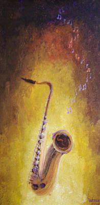 Jazz Sax Poster by Bill Werle