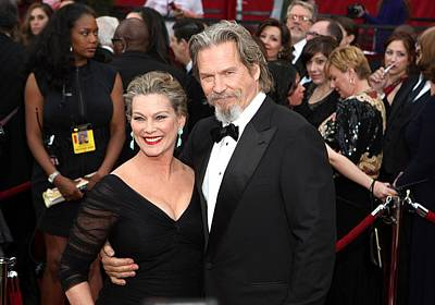 Jeff Bridges, Susan Geston At Arrivals Poster