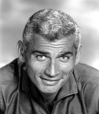 Jeff Chandler, Ca. Late 1950s Poster