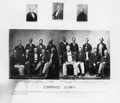 Jefferson Davis Trial Poster by Granger
