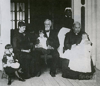 Jefferson Davis With Family Poster
