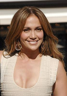 Jennifer Lopez At The Press Conference Poster by Everett