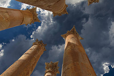 Poster featuring the photograph Jerash by David Gleeson