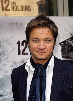 Jeremy Renner At Arrivals For 12 And Poster by Everett