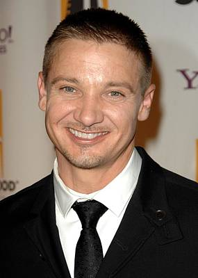 Jeremy Renner At Arrivals For The Poster by Everett