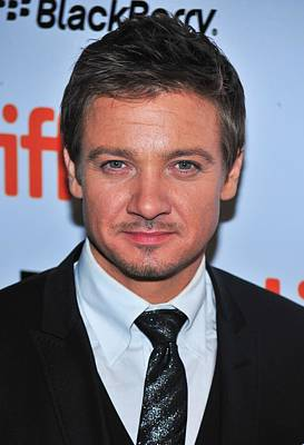 Jeremy Renner At Arrivals For The Town Poster by Everett