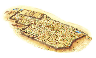 Jerusalem At The Time Of King Herod Poster