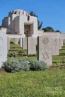Jerusalem British War Cemetery Poster by Noam Armonn