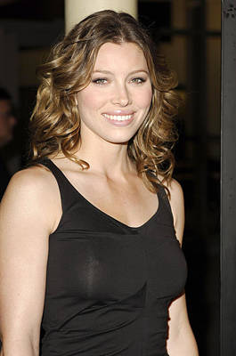 Jessica Biel At Arrivals For London Poster by Everett