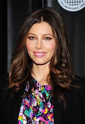 Jessica Biel At Arrivals For Summit On Poster by Everett