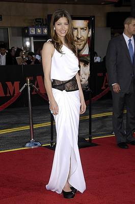 Jessica Biel Wearing An Emilio Pucci Poster by Everett