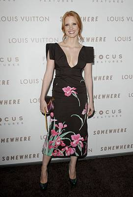 Jessica Chastain Wearing A Louis Poster