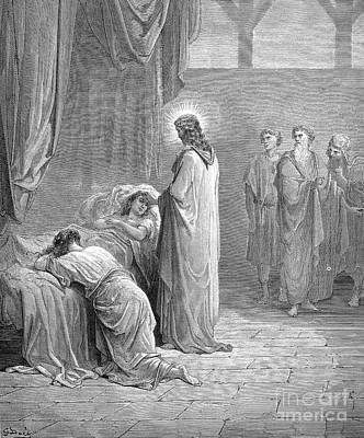 Jesus & Jairus Daughter Poster by Granger