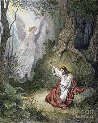 Jesus Agony In Garden Poster