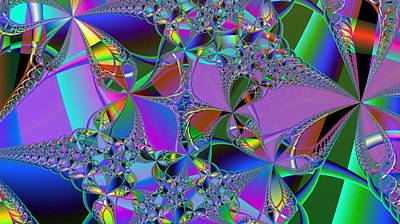 Poster featuring the digital art Jeweled Fantasy by Ann Peck