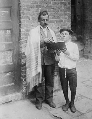 Jewish Man Wearing A Prayer Shawl Poster by Everett