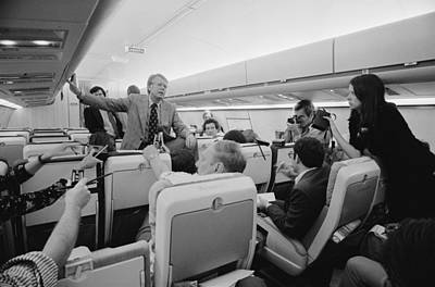 Jimmy Carter Holding An Informal Press Poster by Everett