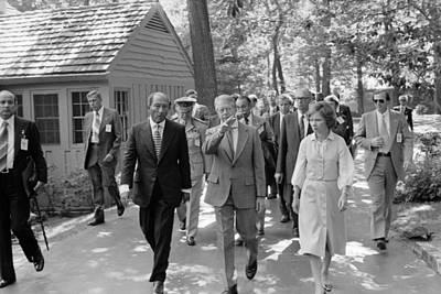 Jimmy Carter Welcomes Anwar Sadat Poster by Everett