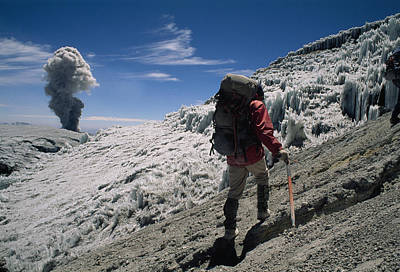 Johan Reinhard Nears The Summit Poster