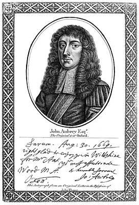 John Aubrey (1626-1697) Poster by Granger